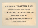 Nathan Trotter & Co. Importers and Dealers in Tin Plate, Copper, Steel, Sheet Iron, Wire,...