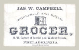 Jas. W. Campbell, Wholesale and Retail Grocer