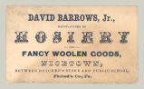 David Barrows, Jr.: Manufacteurer of Hosiery and Fancy Woolen Goods