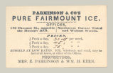 Parkinson & Co's Pure Fairmount Ice
