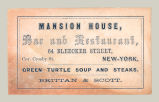 Mansion House, Bar and Restaurant