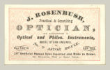 Optician, J. Rosenbush