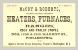 Heaters, Furnaces, Ranges, Cook and Parlor Stoves (McCoy & Roberts)