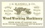 Wood Working Machinery (J. H. Blaisdell & Co.)