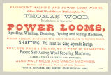 Fairmount Machine and Power Loom Works (Thomas Wood)