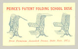 Peirce's Patent Folding School Desk