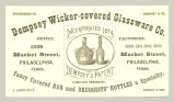 Dempsey Wicker-covered Glassware Co.