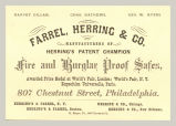 Fire and Burglar Proof Safes (Farrel, Herring & Co.)