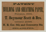 Patent Building and Sheathing Paper (T. Seymour Scott & Bros.)