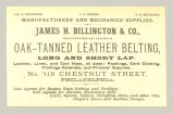 Oak-tanned Leather Belting (James H. Billlington & Co.)