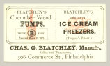 Blatchley's Cucumber Wood Pumps (Chas. G. Blatchley)