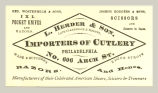 Importers of Cutlery (L. Herder & Son)