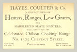 Heaters, Ranges, Low Grates, and Marbelized Slate Mantels (Hayes, Coulter & Co.)