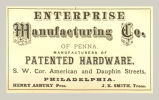Enterprise Manufacturing Co. of Penna., Manufacturers of Patented Hardware
