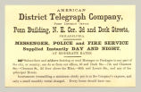 Messenger, Police and Fire Service (American District Telegraph Company)