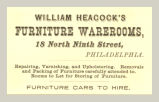 Furniture Warerooms (William Heacock)