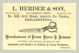 Manufacturers of Patent Shears & Scissors (L. Herder & Son)