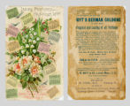 Ladies Perfumed Calendar 1890
