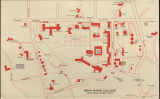 Bryn Mawr College Campus Map, 1975