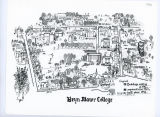 Bryn Mawr College Campus Map, 1971