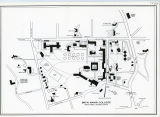 Bryn Mawr College Campus Map, 1983