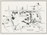 Bryn Mawr College Campus Map, 1987