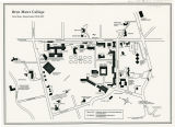 Bryn Mawr College Campus Map, 1992
