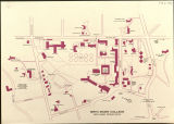 Bryn Mawr College Campus Map, 1976