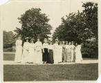 Students from the Class of 1904 in a line