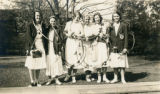 Students from the class of 1933 at the May Day 1933 Hoop Racing
