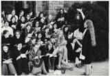 Students singing, Step Sing 1972