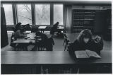 Students studying in Canaday Library