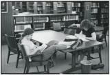 Students studying in Canaday Library Reference Room