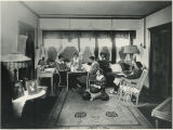Students in large dorm room