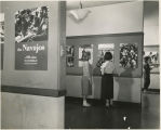 Students at an exhibition about the Navajo
