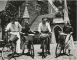 Students and men with bikes