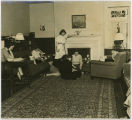 Students inside the Blue Room, Wyndham Alumnae House