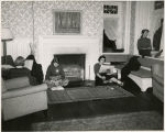 Students in the Blue Room, Wyndham Alumnae House