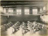 Students exercising