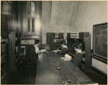 Three students in Math Library, Taylor Hall