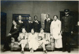 Cast of maids' and porters' play