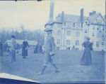 Thomas Hunt Morgan strolls on Merion Green