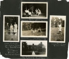Scrapbook page showing students from the Bryn Mawr Summer School for Women Workers in Industry