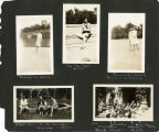 Scrapbook page showing students from the Bryn Mawr Summer School for Women Workers in...