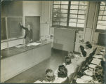 Students in chemistry class with Professor James Crenshaw