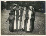 Four graduate students during the Commencement