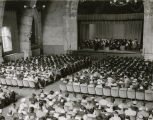 Graduation ceremony in Goodhart auditorium