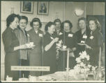 Coffee party for Royal Airforce officers' wives