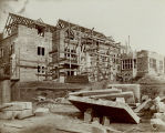Construction of Rockefeller Hall