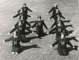 Cheerleaders in Haverford 'H'